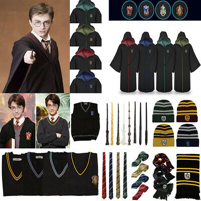 Adulti Bambini Harry Potter Hogwarts Robe Vest Cappello Cravatta Cosplay Outfit