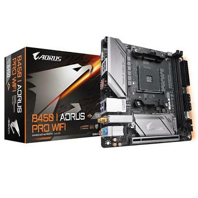 Gigabyte B450 I AORUS PRO WIFI AMD AM4 ITX Multi Zone RGB Gaming Motherboard