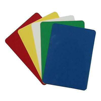 Casino Grade 5 Colors Plastic Poker Size Cut Cards (10-Pack)