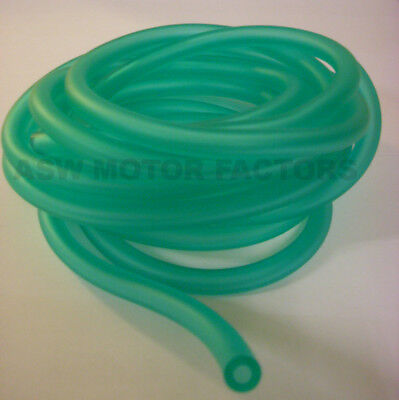 Motorcycle Scooter Fuel Pipe Green I.D 6 mm x O.D 9 mm x 1 m Length
