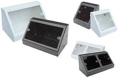 Powder Coated Steel Angled Pedestal Box Bench Socket Single Double Gang