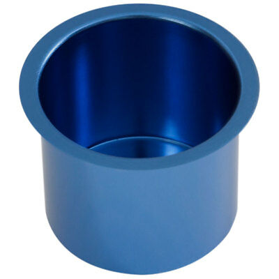 Blue Jumbo Aluminum Drop In Cup Holder For Poker Table and Boat & RV Car