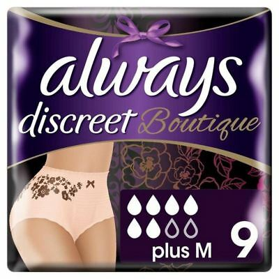 4x Always Discreet Incontinence Pants Boutique M 9 per pack