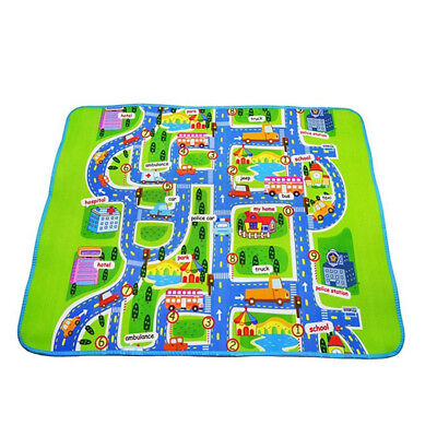 New Children's Mats Baby Kids Rug CITY Carpet Car Play Mat Track Floor 130*160cm
