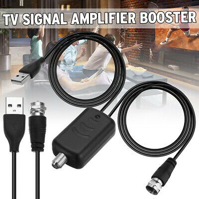 Digital TV Signal Amplifier Booster 45-862MHz For Cable Fox Antenna Channel 25DB