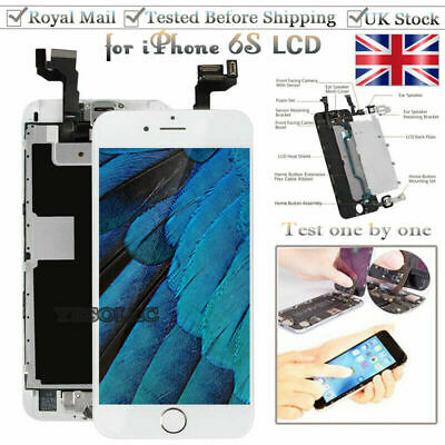 White For iPhone 6S Screen Replacement Digitizer LCD Touch Home Button Display