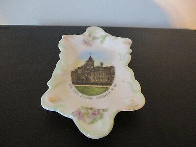 Circa 1900 Souvenir Porcelain Pin Tray High School Sisterville West Virginia *