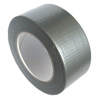 ( Eur. 0,07 / M-Eur 0,10/M) Duct Tape Woven Robust Strong Silver 45 mm x 50 M