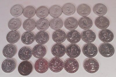 34 Coins/Tokens Vintage 1968 Shell Mr. President Coin Game