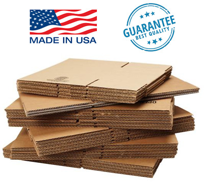 """4 - 8"""" SHIPPING BOXES - 25 or 50 pack - Packing Mailing Moving Storage"""