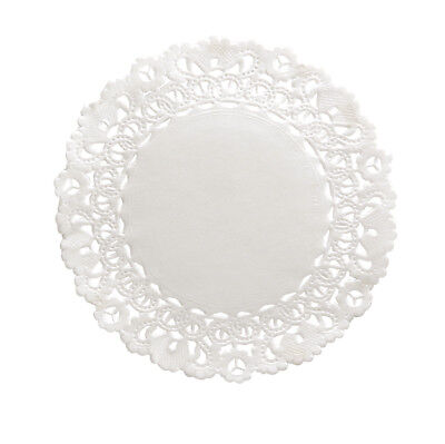 Round Paper Doilies Hygloss Products 4 Inch 100-Pk White Lace Disposable Doily