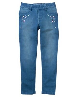 NWT Gymboree Blue Jeggings Girl Pull on Pants Ice Dancer 5,6,7