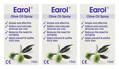 Earol Olive Oil Ear Drops 10ml, Softense & Naturally Removes Ear Wax, Itchy Ears