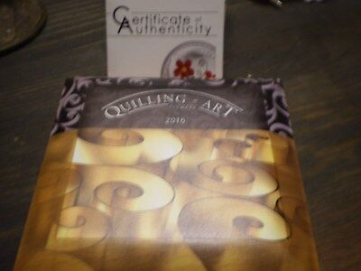 Beautiful Cook 2016 Quilling Art Flower 2 Dollars Colour Silver Coin,Proof COA