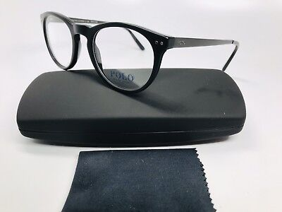 7d9fe78ec47a New Authentic POLO PH 2168 5001 Matte Black Round Eyeglasses 48mm with Case