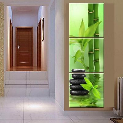 Spa Stone Bamboo Wall Art Picture Canvas Painting 3 Panel Living Room Home Decor