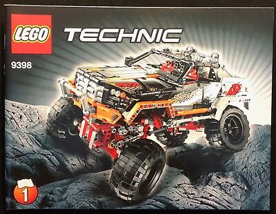 Lego Technic 9398 4 X 4 Crawler Instructions Book Only 1190