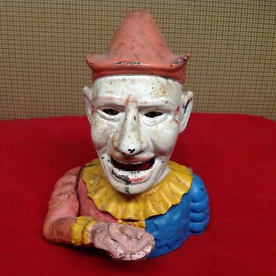 Cast Iron Clown Mechanical Coin Bank