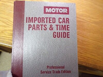 Motor Imported Car Parts & Time Guide 9th Edition 1984-90 17709 087851-693-X