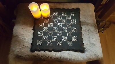 Antique 19th Century English Papier Mache Chess Board Collectable