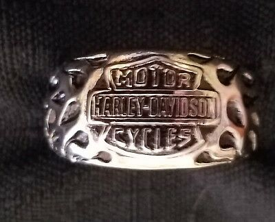 stainless steel harley ring sz 8