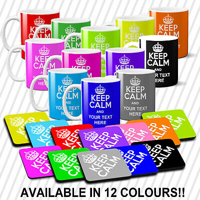 Keep Calm Personalised Mug Coffee Tea Cup Any Name Or Message, Birthday Gift