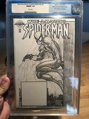 MARVEL AUTHENTIX: AMAZING Spider-man #1 9 8!!!!! WOW   lowest print on ebay