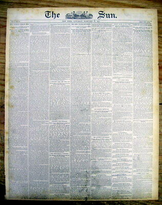 <1883 newspaper NEGRO SLAVE AUCTION DESCRIBED Black Americana AFRICAN-AMERICAN