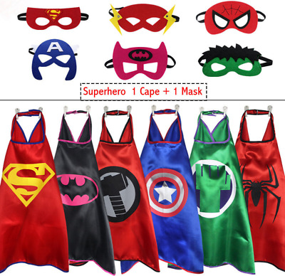 1 Cape&1 Mask& Cape For Kid Birthday Party Favors And Ideas Kids Superhero Cape!