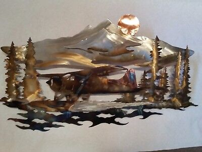 de Havilland Beaver metal art wall sculpture