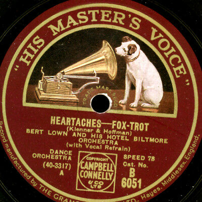 BERT LOWN & HIS HOTEL BILTMORE ORCH. Heartaches / Thrill me    78rpm    S9641