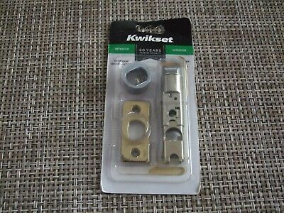 "NEW Kwikset Complete Interior Door Latch Polished Brass Adjustable 2 3/8"" 2 3/4"""