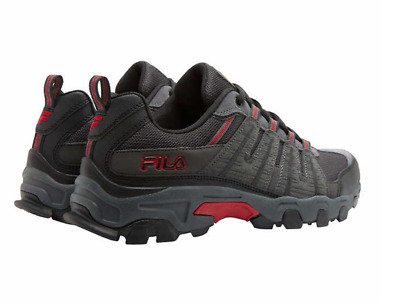 d9e9019a8741 New Men s FILA Hiking Trail Shoe Comfort Traction Grey-black-red PICK SIZE