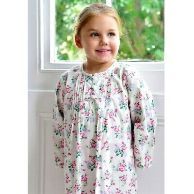 Girls Long sleeved Floral Cotton Nightie Nightdress BNWT Powell Craft Age 2-12