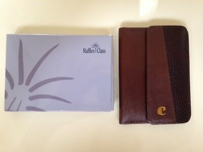Singapore Airlines Raffles Business Class Gift Carvan Paris Brown Leather Keys
