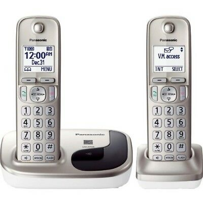 Panasonic Cordless Phone with 2 Handsets KX-TGD212N DECT 6.0 Expandable