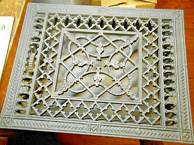 Ornate 9 X 12 Antique Tuttle & Bailey Mfg Co Black Cast Iron Heating Grate