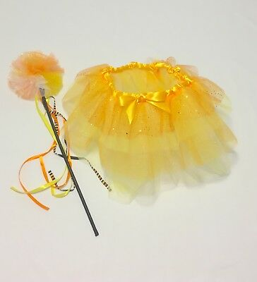 Candy Corn Tutu and Fairy Wand for Toddler and Young Girls