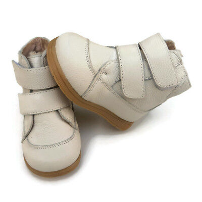 New Toddler Boots Genuine Leather white girl boy baby kids child walker shoes