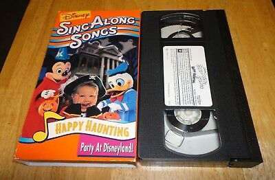 disney sing along songs happy haunting party at disneyland vhs 1998