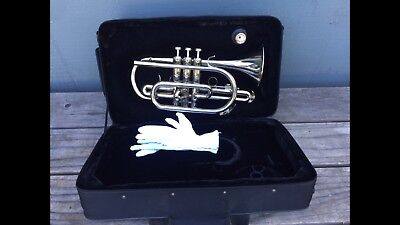Selman Cornet with Shepherd's Crook in Silver EXCELLENT Condition