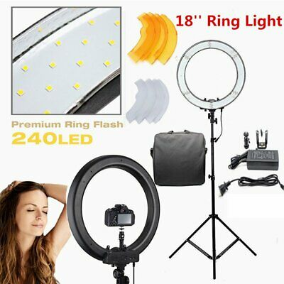 """18"""" Dimmable 5500K LED SMD Ring Light with Stand for Makeup Phone Camera Live OY"""