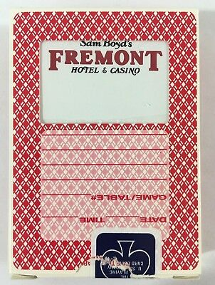 Las Vegas Playing Cards Fremont Hotel and Casino Game Used