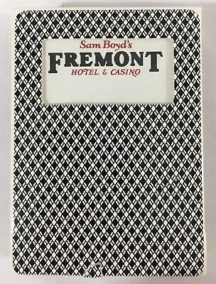 Las Vegas Playing Cards Fremont Hotel and Casino Game Used, Black