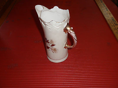Vintage Small Porcelain Pitcher With Flowers 7 Inches