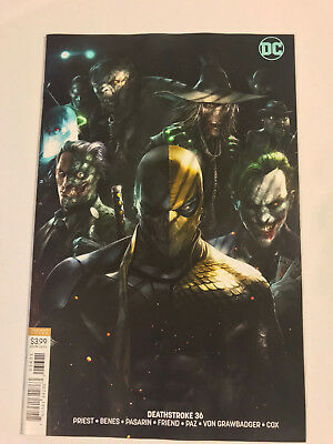 DEATHSTROKE #36 - FRANCESCO MATTINA  Cover B Variant - DC Comics 2018 Unread