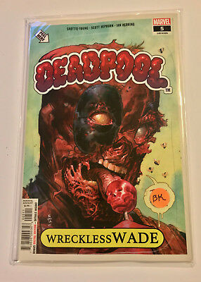 DEADPOOL #5 Cover A Garbage Pail Kids Homage Skottie Young 2018 Marvel SOLD OUT