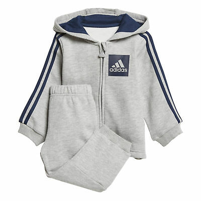 best sneakers 5d8b5 ff958 adidas 3-Stripes Sports Infant Toddler Baby Kids Boys Tracksuit Set Grey