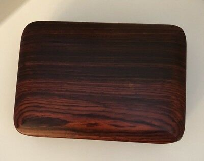 Turned Wood Art Box, Handmade, Signed, Includes Artist Note. Excellent Condition