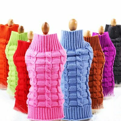Pet Dog Knitted Winter Sweater Warm Jumper Puppy Cat Puppy Cat Coat Jacket US